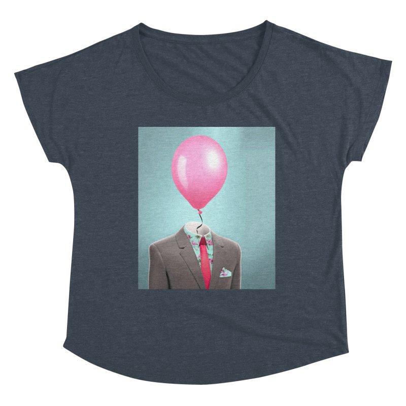 Balloon head and Flamingo shirt Women's Dolman Scoop Neck by Vin Zzep's Artist Shop