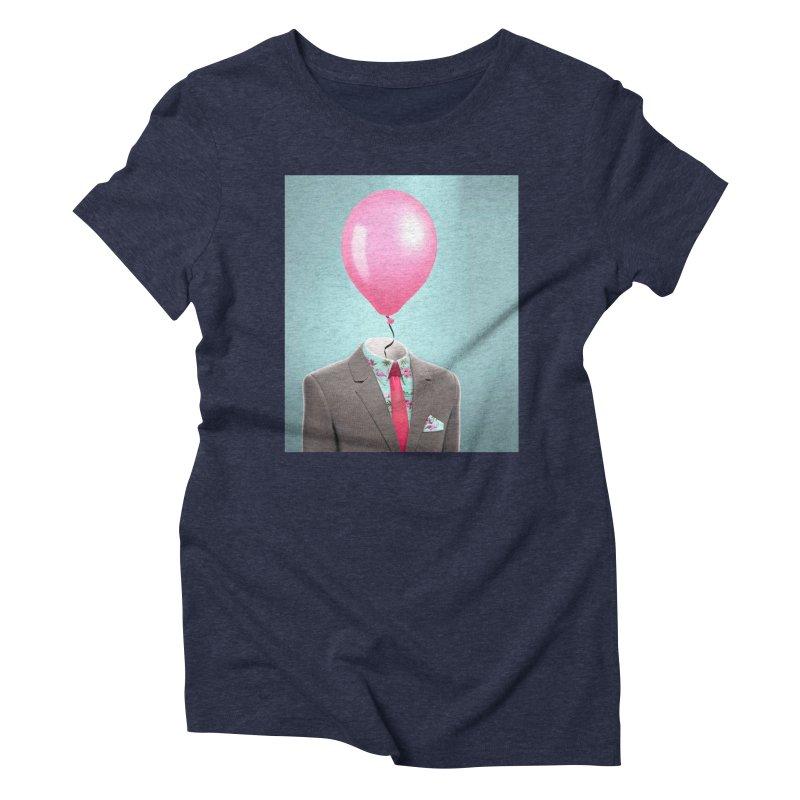 Balloon head and Flamingo shirt Women's Triblend T-Shirt by Vin Zzep's Artist Shop