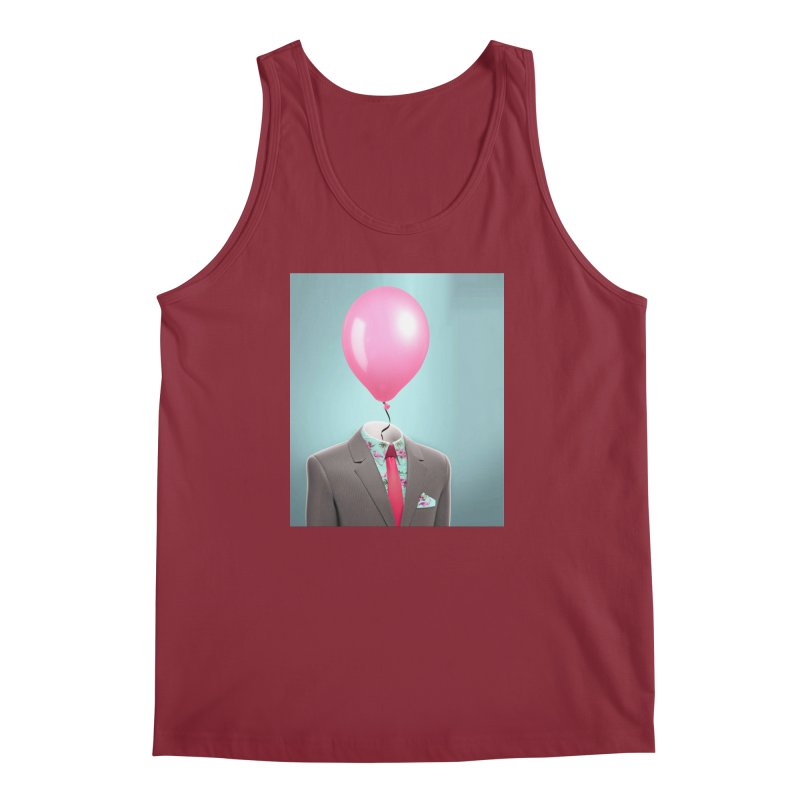 Balloon head and Flamingo shirt Men's Tank by Vin Zzep's Artist Shop