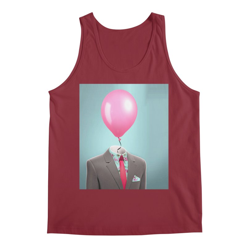 Balloon head and Flamingo shirt Men's Tank by Vin Zzep's Artist Shop
