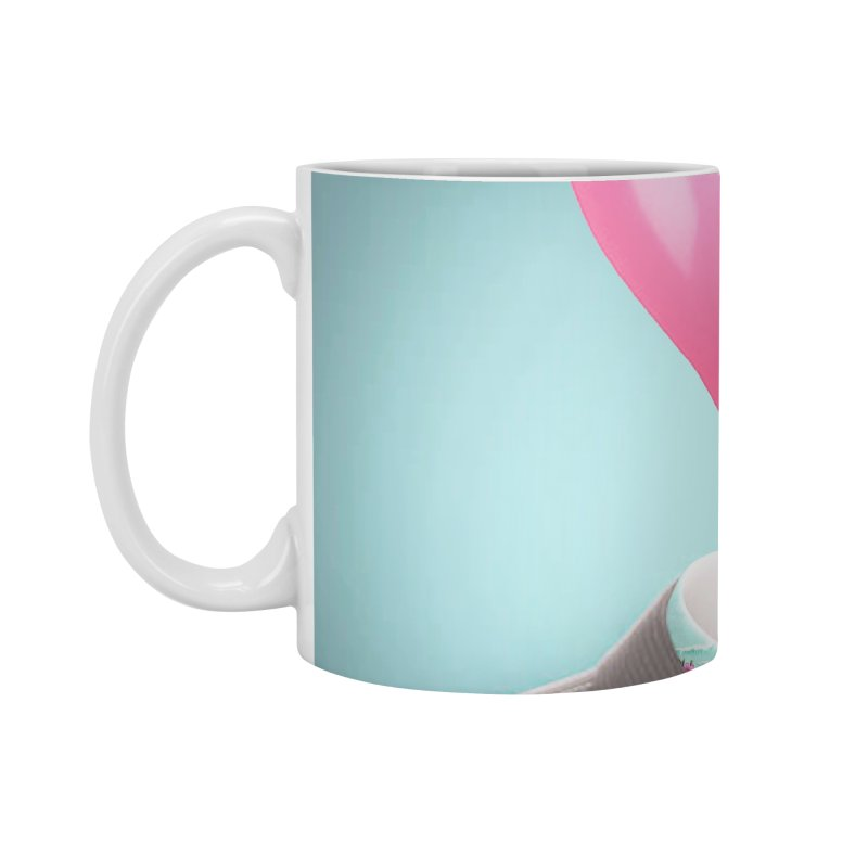 Balloon head and Flamingo shirt Accessories Standard Mug by Vin Zzep's Artist Shop
