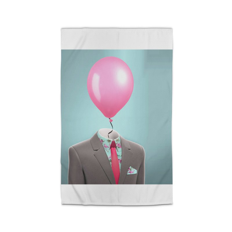Balloon head and Flamingo shirt Home Rug by Vin Zzep's Artist Shop