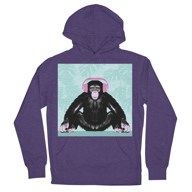 Jungle Music 2 Women's French Terry Pullover Hoody by Vin Zzep's Artist Shop
