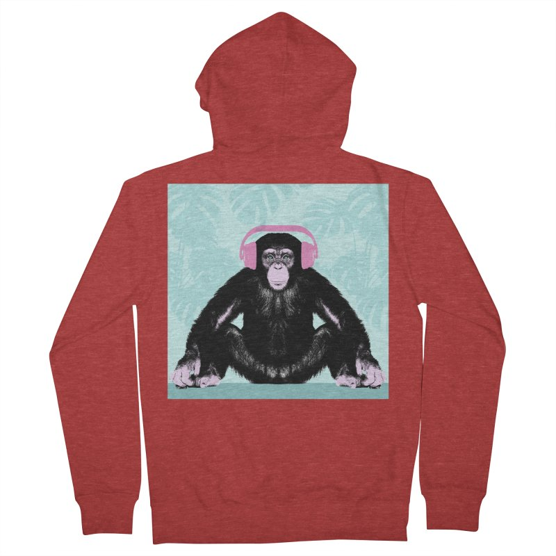 Jungle Music 2 Women's French Terry Zip-Up Hoody by Vin Zzep's Artist Shop