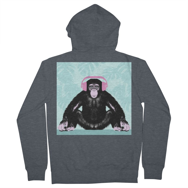 Jungle Music 2 Men's French Terry Zip-Up Hoody by Vin Zzep's Artist Shop