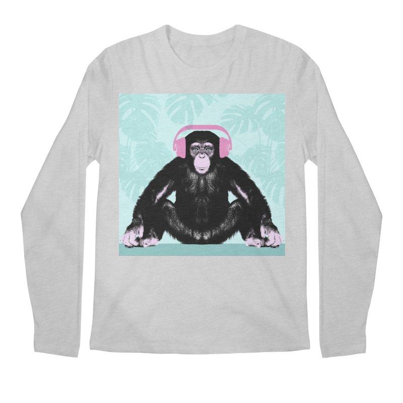 Jungle Music 2 Men's Regular Longsleeve T-Shirt by Vin Zzep's Artist Shop