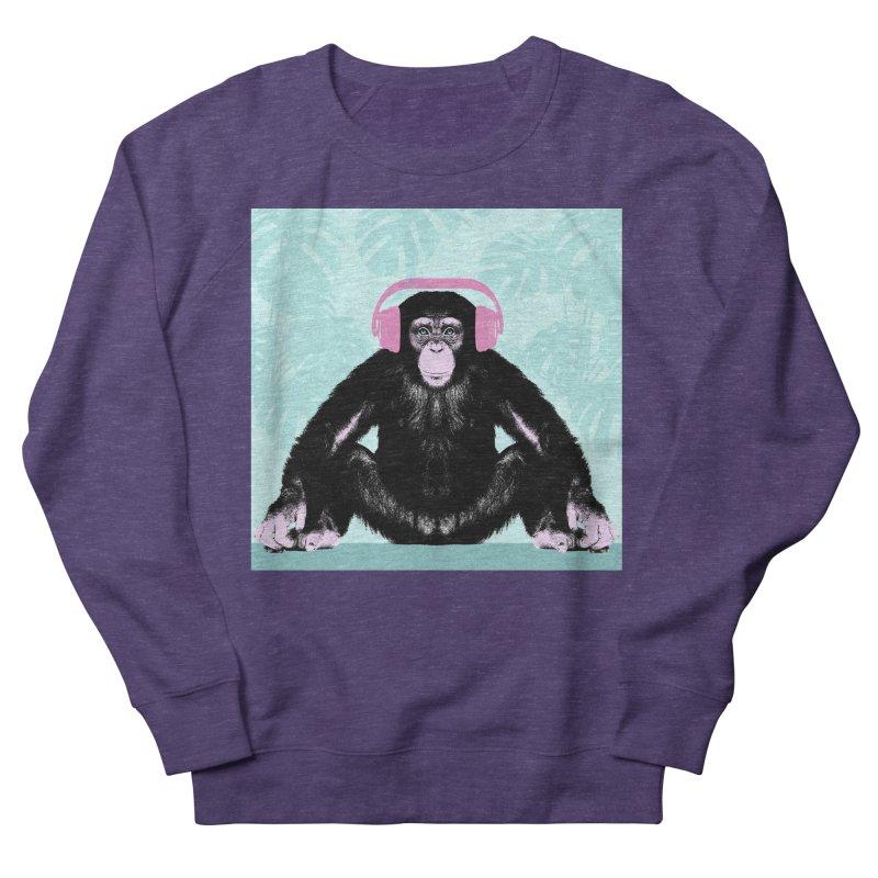 Jungle Music 2 Men's French Terry Sweatshirt by Vin Zzep's Artist Shop