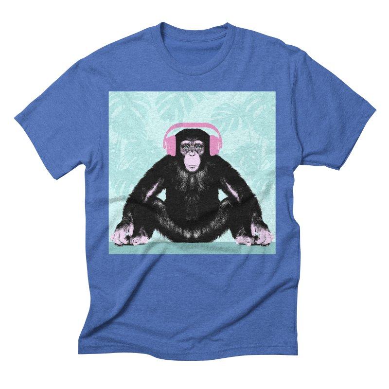 Jungle Music 2 Men's Triblend T-Shirt by Vin Zzep's Artist Shop