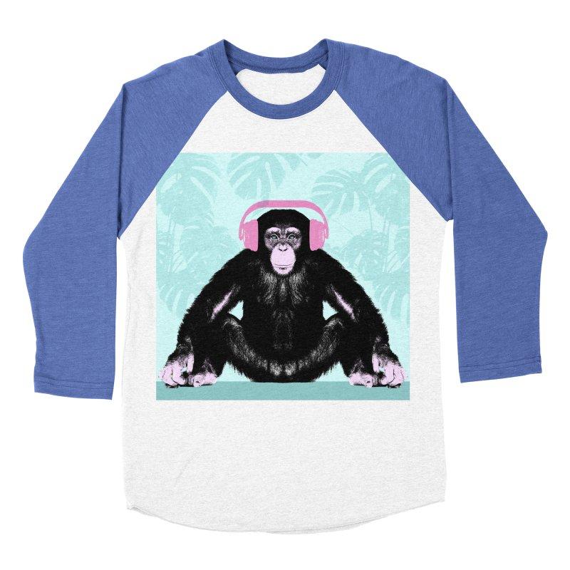 Jungle Music 2 Men's Baseball Triblend Longsleeve T-Shirt by Vin Zzep's Artist Shop