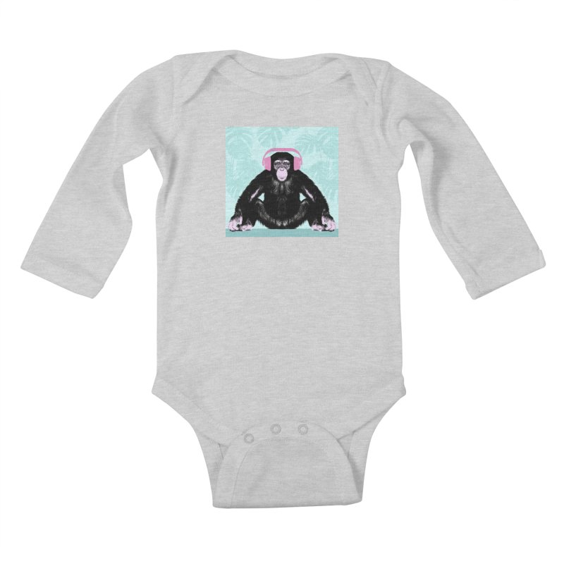 Jungle Music 2 Kids Baby Longsleeve Bodysuit by Vin Zzep's Artist Shop