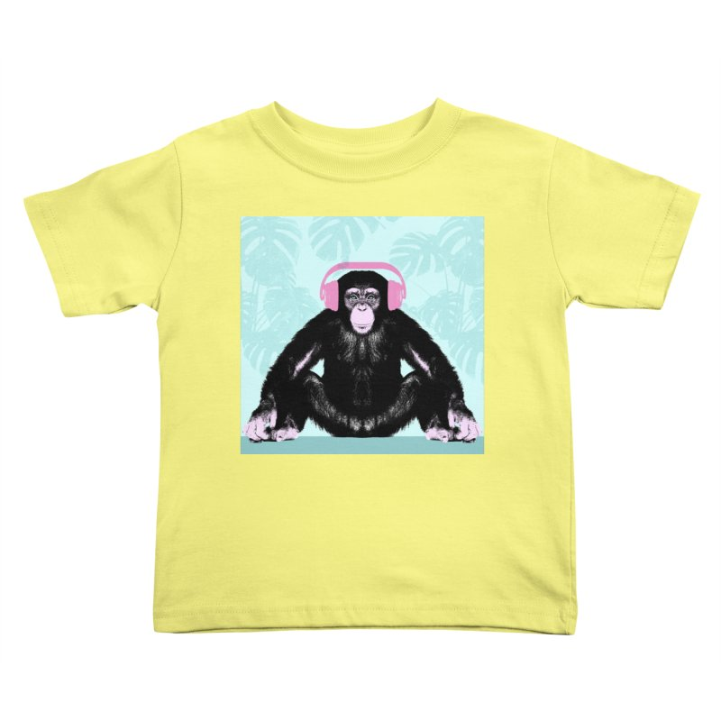 Jungle Music 2 Kids Toddler T-Shirt by Vin Zzep's Artist Shop