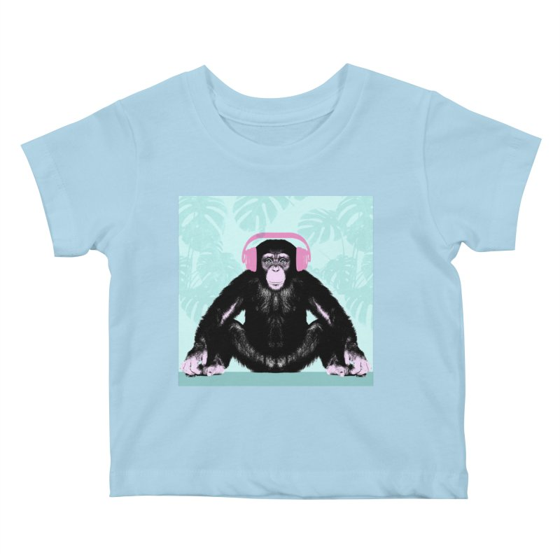 Jungle Music 2 Kids Baby T-Shirt by Vin Zzep's Artist Shop