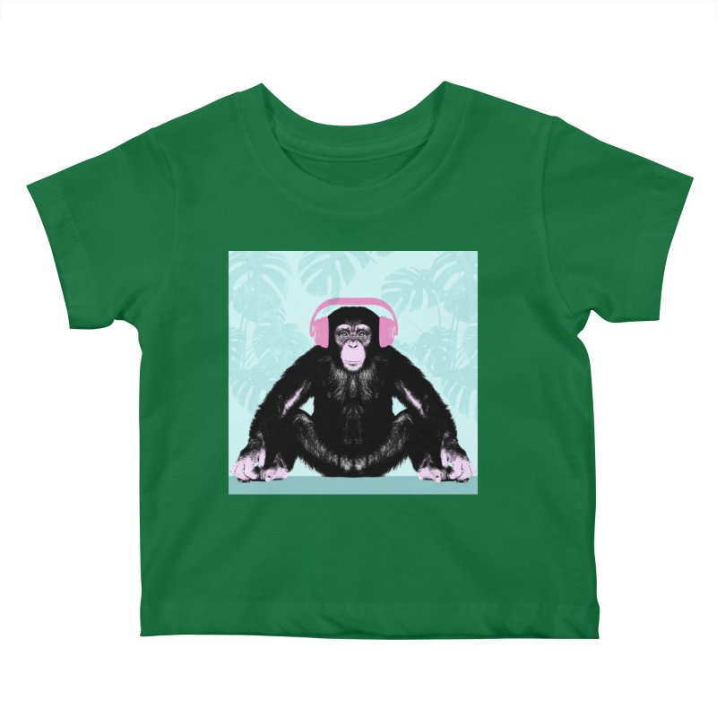 Jungle Music 2 Kids Baby T-Shirt by Vin Zzep's Artist Shop