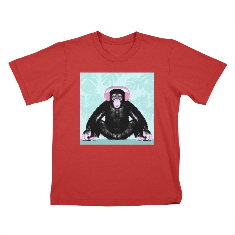Jungle Music 2 Kids T-Shirt by Vin Zzep's Artist Shop