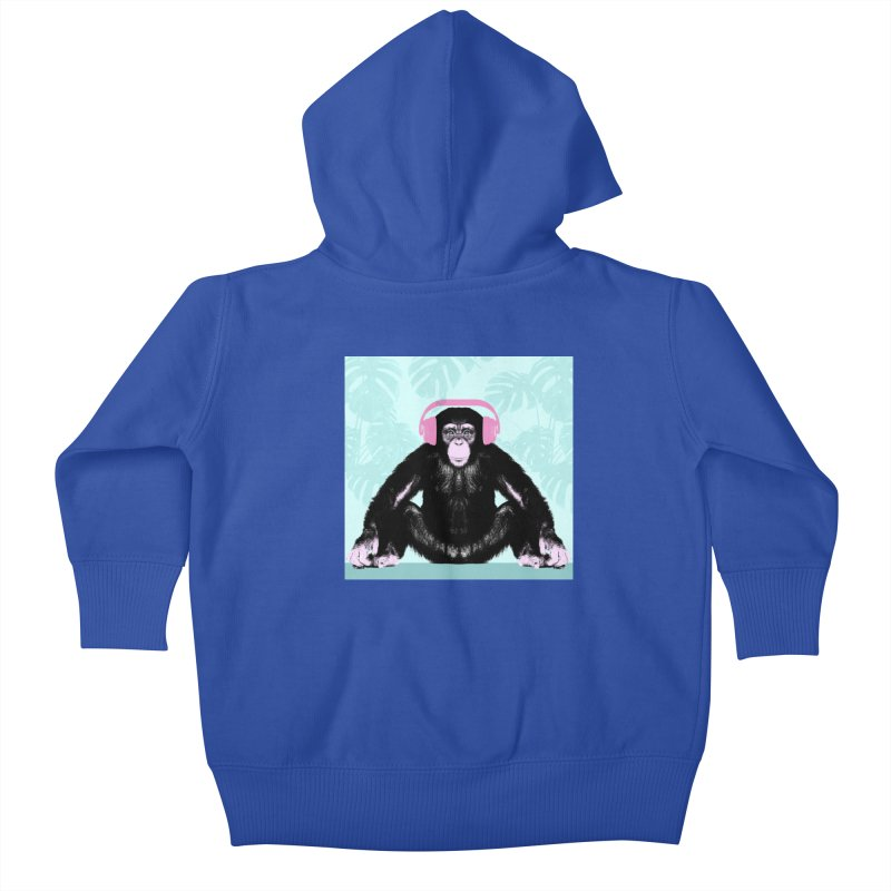 Jungle Music 2 Kids Baby Zip-Up Hoody by Vin Zzep's Artist Shop