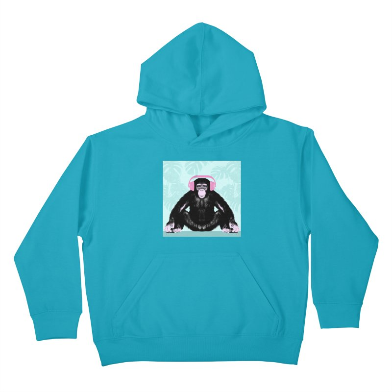 Jungle Music 2 Kids Pullover Hoody by Vin Zzep's Artist Shop