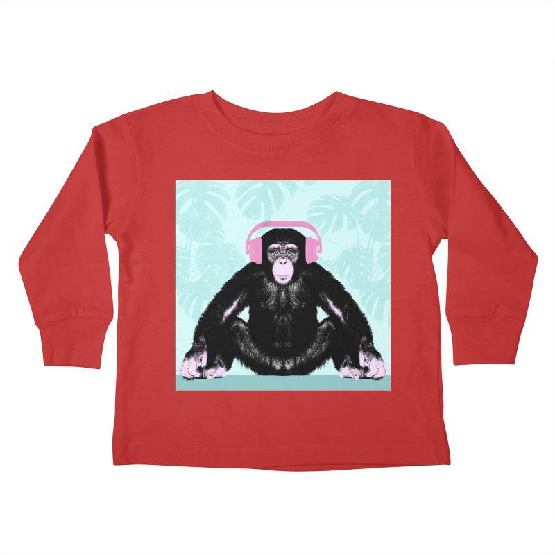 Jungle Music 2 Kids Toddler Longsleeve T-Shirt by Vin Zzep's Artist Shop
