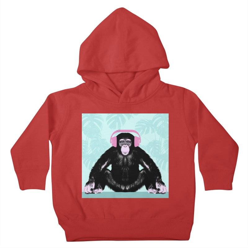Jungle Music 2 Kids Toddler Pullover Hoody by Vin Zzep's Artist Shop