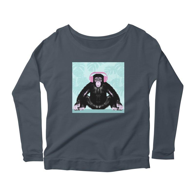 Jungle Music 2 Women's Scoop Neck Longsleeve T-Shirt by Vin Zzep's Artist Shop