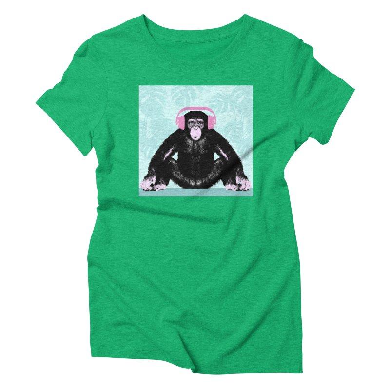 Jungle Music 2 Women's Triblend T-Shirt by Vin Zzep's Artist Shop