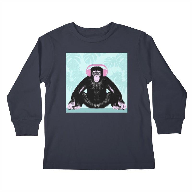 Jungle Music 2 Kids Longsleeve T-Shirt by Vin Zzep's Artist Shop