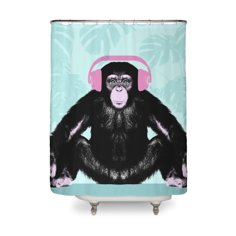 Jungle Music 2 Home Shower Curtain by Vin Zzep's Artist Shop