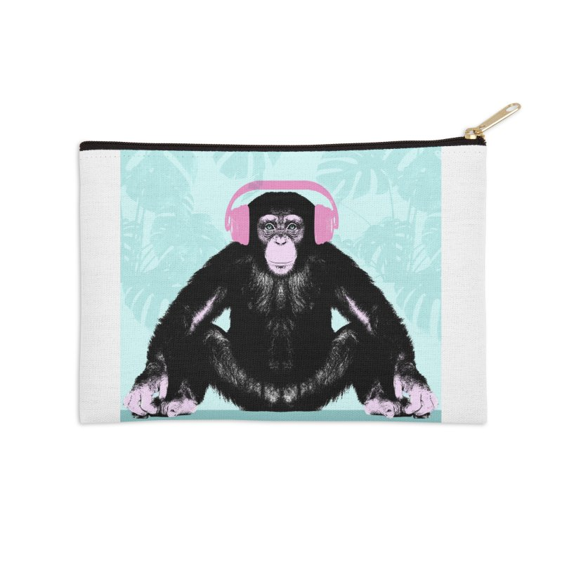 Jungle Music 2 Accessories Zip Pouch by Vin Zzep's Artist Shop
