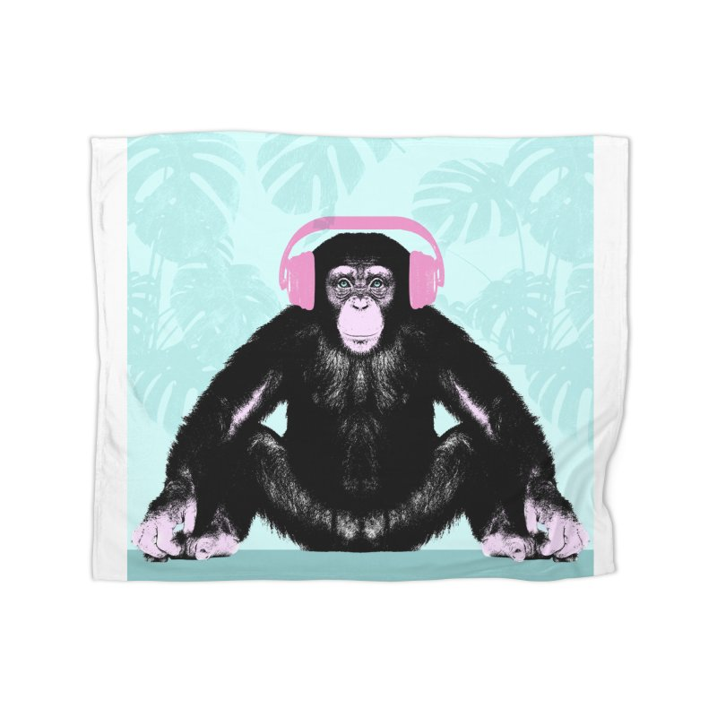 Jungle Music 2 Home Fleece Blanket Blanket by Vin Zzep's Artist Shop