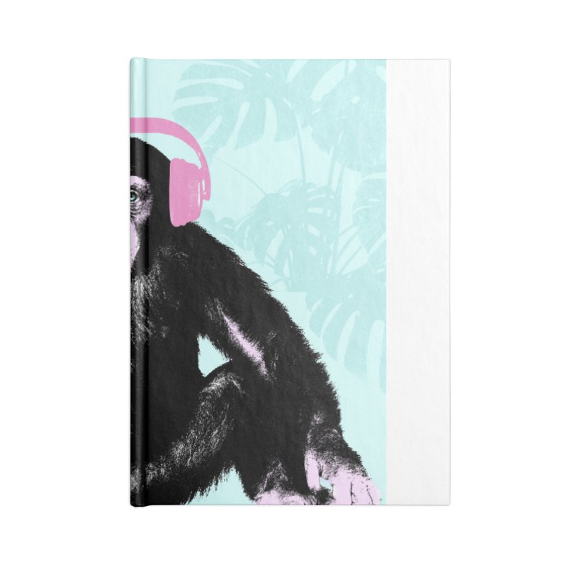 Jungle Music 2 Accessories Lined Journal Notebook by Vin Zzep's Artist Shop