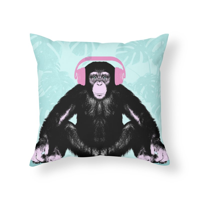 Jungle Music 2 Home Throw Pillow by Vin Zzep's Artist Shop