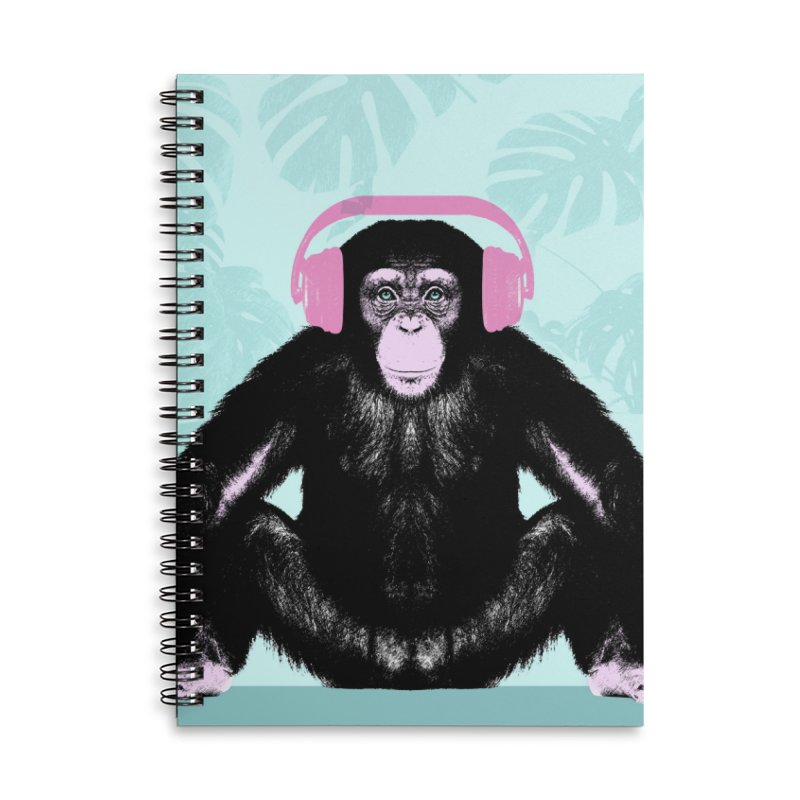 Jungle Music 2 Accessories Lined Spiral Notebook by Vin Zzep's Artist Shop