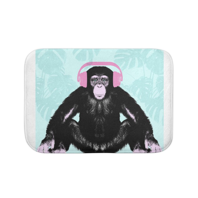 Jungle Music 2 Home Bath Mat by Vin Zzep's Artist Shop
