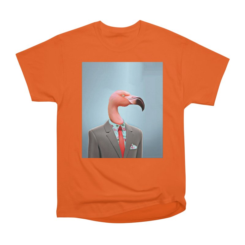 Flamingo Suit Men's T-Shirt by Vin Zzep's Artist Shop