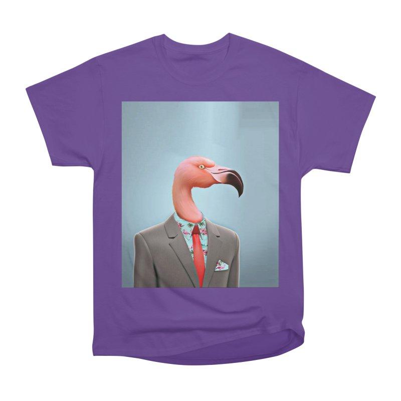 Flamingo Suit Men's Heavyweight T-Shirt by Vin Zzep's Artist Shop