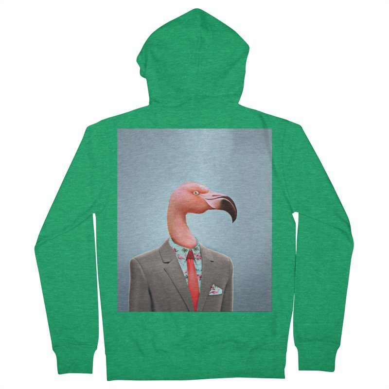 Flamingo Suit Men's Zip-Up Hoody by Vin Zzep's Artist Shop