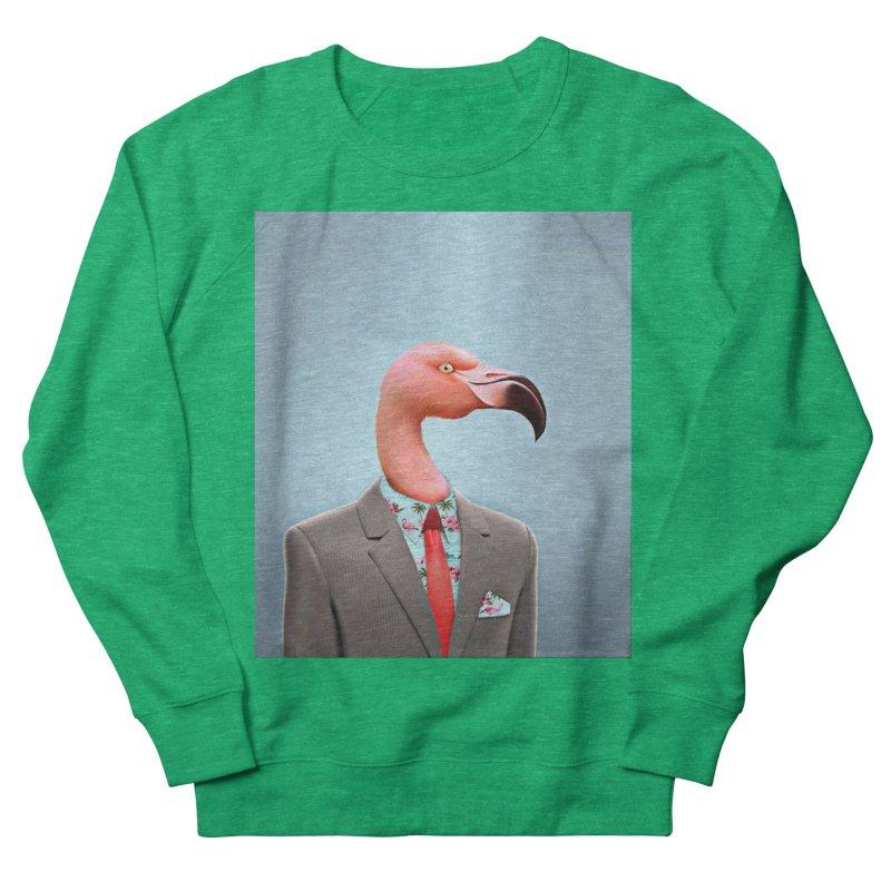Flamingo Suit Men's French Terry Sweatshirt by Vin Zzep's Artist Shop