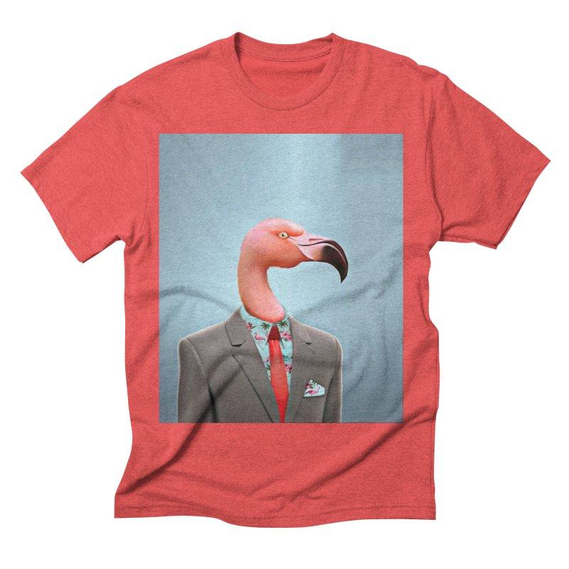 Flamingo Suit Men's Triblend T-Shirt by Vin Zzep's Artist Shop