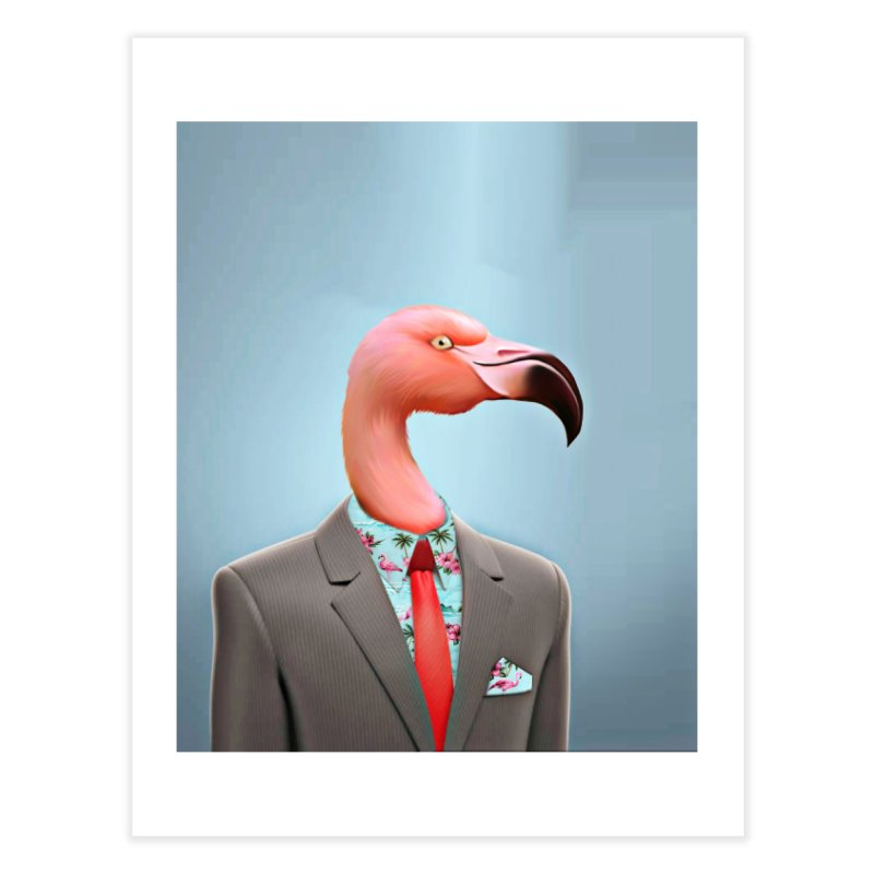 Flamingo Suit Home Fine Art Print by Vin Zzep's Artist Shop