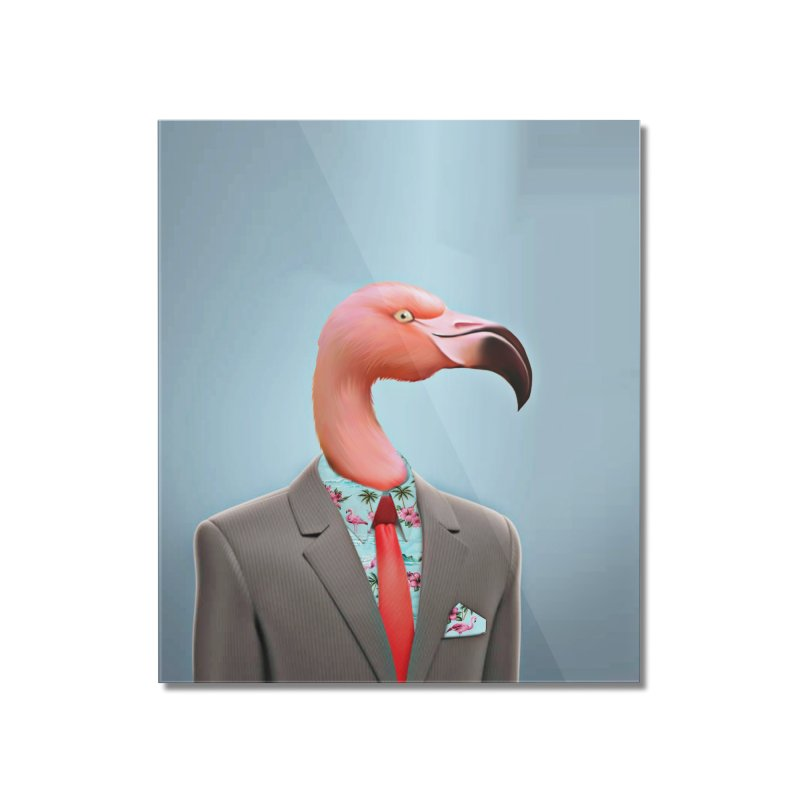 Flamingo Suit Home Mounted Acrylic Print by Vin Zzep's Artist Shop