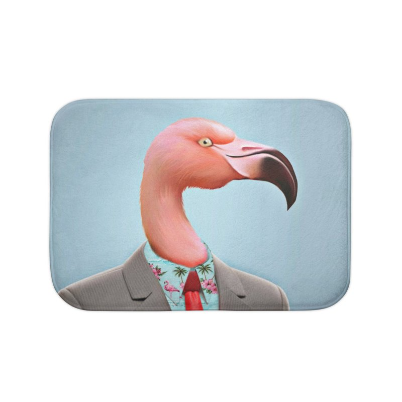 Flamingo Suit Home Bath Mat by Vin Zzep's Artist Shop