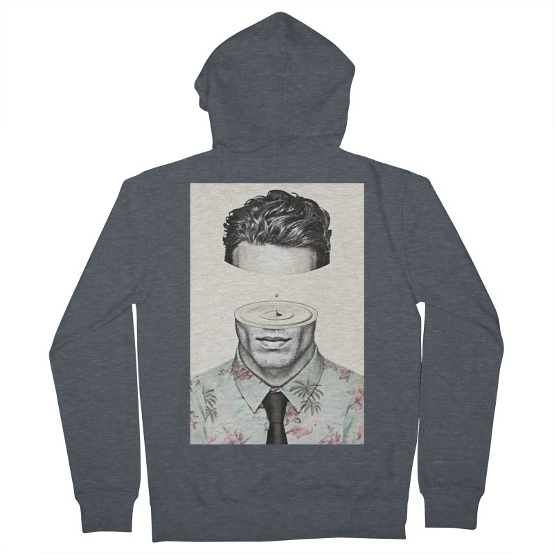 Head Space Men's French Terry Zip-Up Hoody by Vin Zzep's Artist Shop