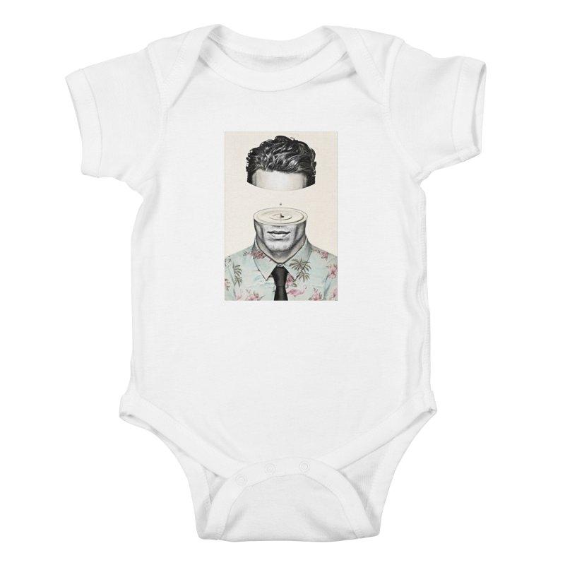 Head Space Kids Baby Bodysuit by Vin Zzep's Artist Shop