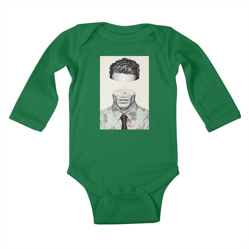 Head Space Kids Baby Longsleeve Bodysuit by Vin Zzep's Artist Shop