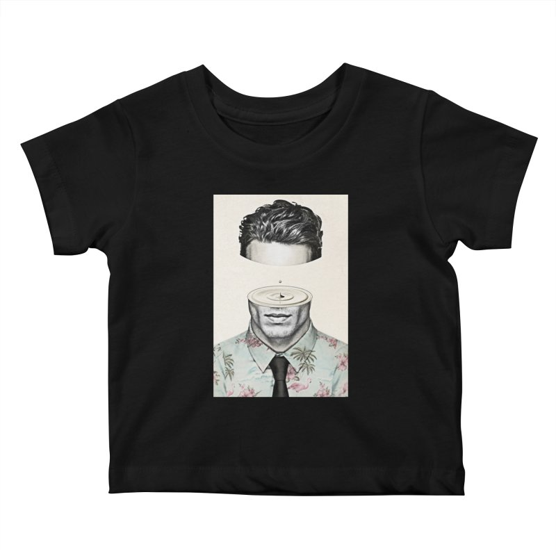 Head Space Kids Baby T-Shirt by Vin Zzep's Artist Shop