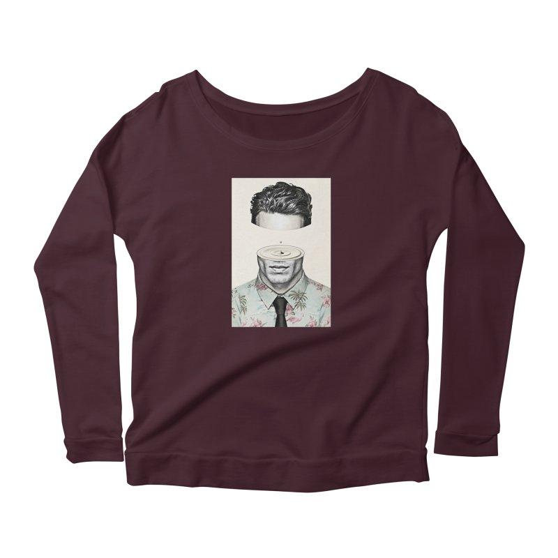 Head Space Women's Scoop Neck Longsleeve T-Shirt by Vin Zzep's Artist Shop