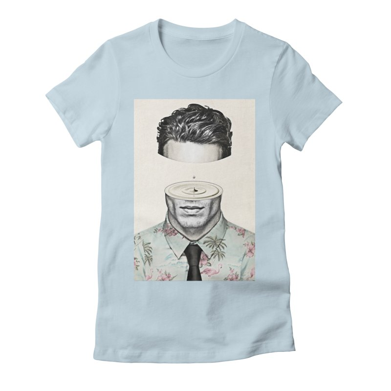 Head Space Women's Fitted T-Shirt by Vin Zzep's Artist Shop
