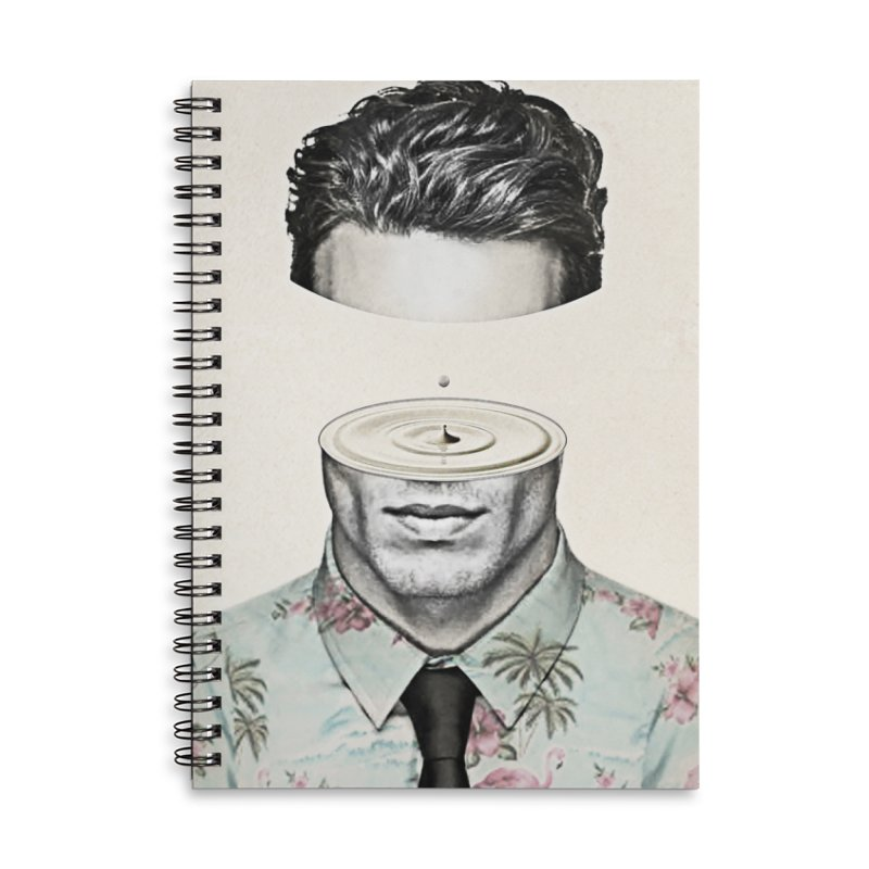 Head Space Accessories Lined Spiral Notebook by Vin Zzep's Artist Shop