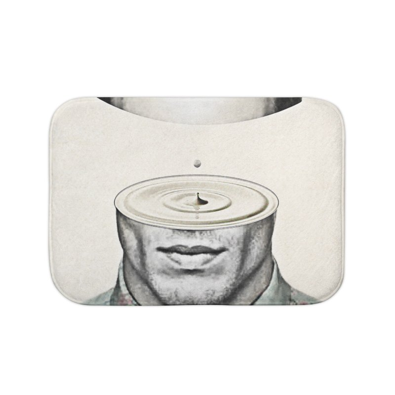 Head Space Home Bath Mat by Vin Zzep's Artist Shop