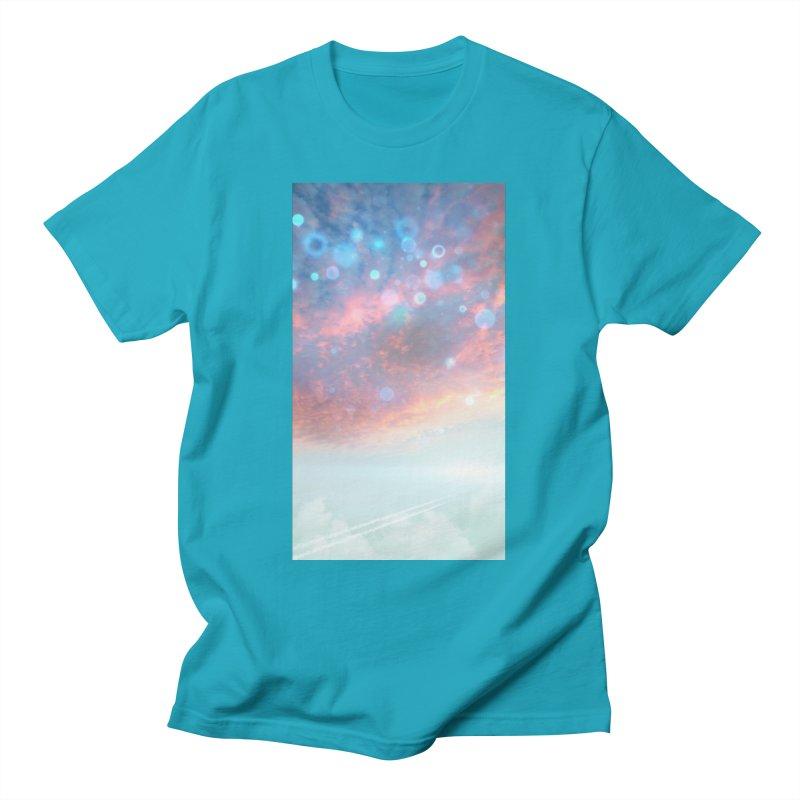 Teal SKY Men's T-Shirt by Vin Zzep's Artist Shop