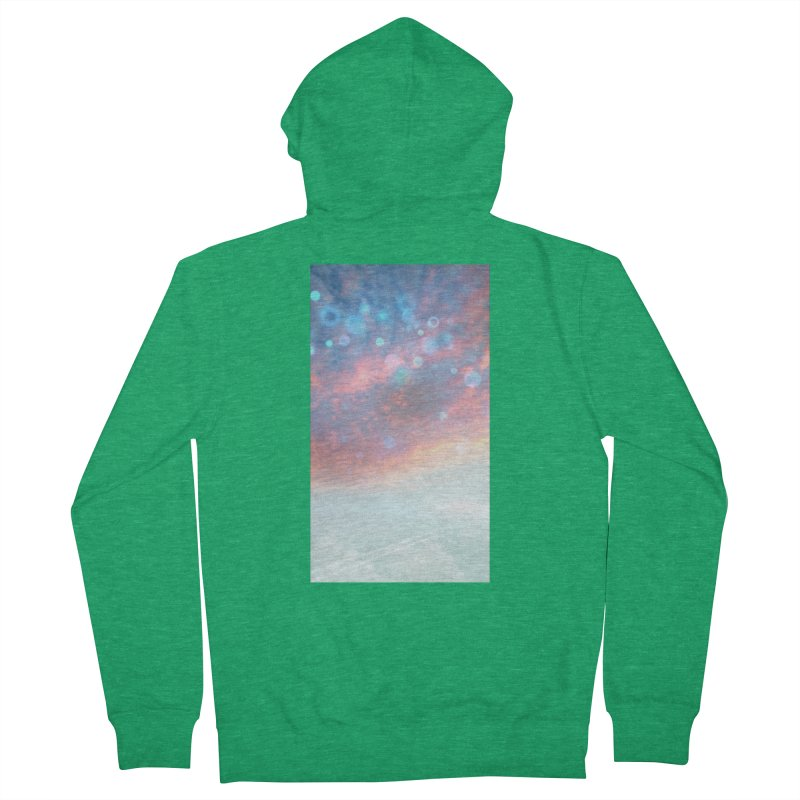 Teal SKY Men's Zip-Up Hoody by Vin Zzep's Artist Shop